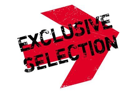 総: Exclusive selection stamp. Grunge design with dust scratches. Effects can be easily removed for a clean, crisp look. Color is easily changed.  イラスト・ベクター素材