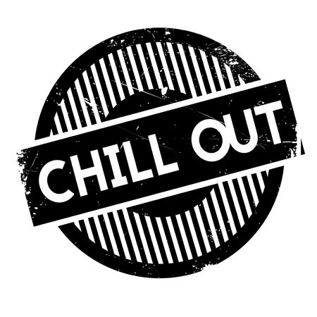 unwind: Chill Out rubber stamp. Grunge design with dust scratches. Effects can be easily removed for a clean, crisp look. Color is easily changed.