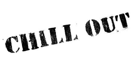 Chill Out sello de goma. Diseño de Grunge con los rasguños polvo. Los efectos se pueden quitar fácilmente para una apariencia limpia y nítida. En color se cambia fácilmente.