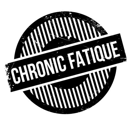 sustained: Chronic Fatique rubber stamp. Grunge design with dust scratches. Effects can be easily removed for a clean, crisp look. Color is easily changed. Illustration