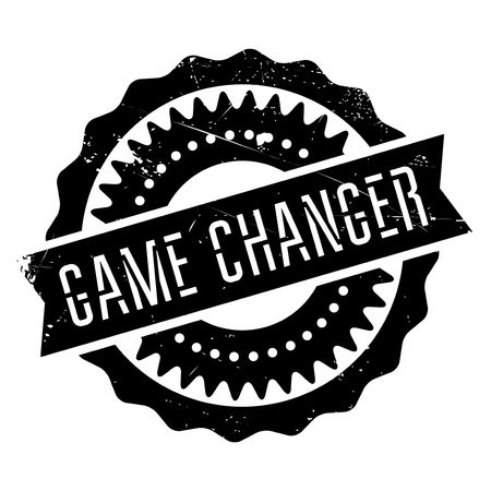 romp: Game changer stamp. Grunge design with dust scratches. Effects can be easily removed for a clean, crisp look. Color is easily changed. Illustration