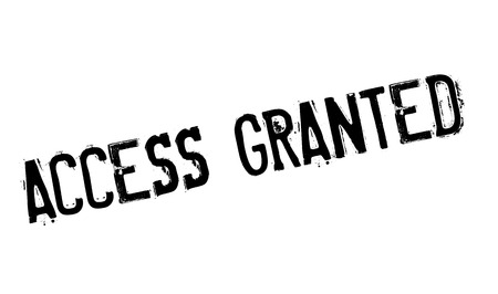 granted: Access Granted rubber stamp. Grunge design with dust scratches. Effects can be easily removed for a clean, crisp look. Color is easily changed.