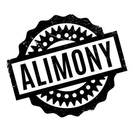 split up: Alimony rubber stamp. Grunge design with dust scratches. Effects can be easily removed for a clean, crisp look. Color is easily changed. Illustration
