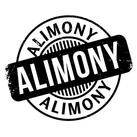 Alimony rubber stamp. Grunge design with dust scratches. Effects can be easily removed for a clean, crisp look. Color is easily changed. Illustration