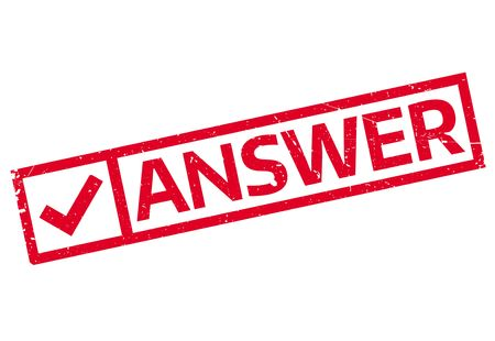 conclude: Answer rubber stamp. Grunge design with dust scratches. Effects can be easily removed for a clean, crisp look. Color is easily changed.