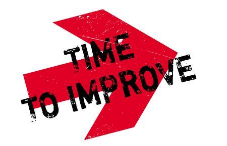È tempo di migliorare il timbro. Design grunge con graffi di polvere. Gli effetti possono essere facilmente rimossi per un look pulito e nitido. Il colore è facilmente modificabile Vettoriali