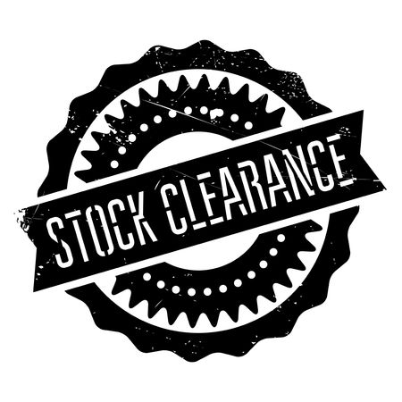 endorsement: Stock clearance stamp. Grunge design with dust scratches. Effects can be easily removed for a clean, crisp look. Color is easily changed.