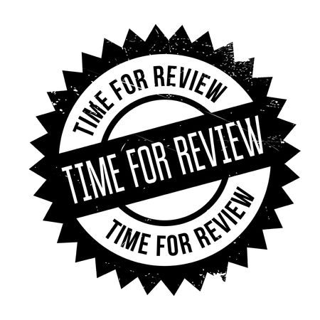Time for review stamp. Grunge design with dust scratches. Effects can be easily removed for a clean, crisp look. Color is easily changed.