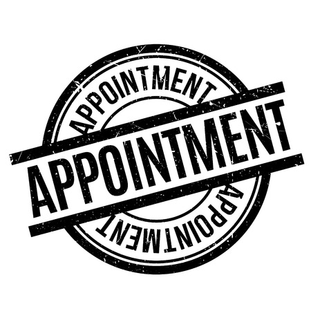 appointment: Appointment rubber stamp. Grunge design with dust scratches. Effects can be easily removed for a clean, crisp look. Color is easily changed.