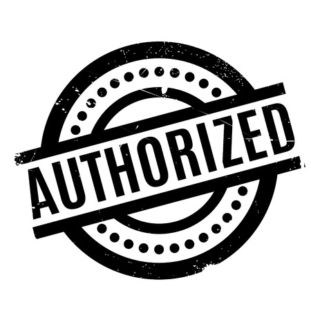 authorized: Authorized rubber stamp. Grunge design with dust scratches. Effects can be easily removed for a clean, crisp look. Color is easily changed.