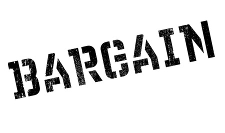 bargaining: Bargain stamp. Grunge design with dust scratches. Effects can be easily removed for a clean, crisp look. Color is easily changed.