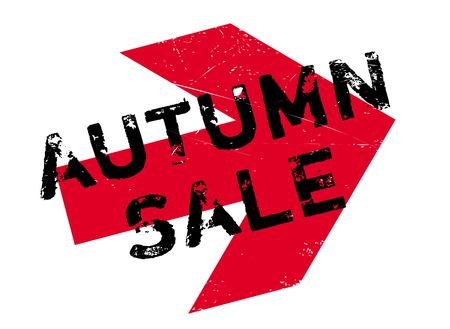 dumping: Autumn sale stamp. Grunge design with dust scratches. Effects can be easily removed for a clean, crisp look. Color is easily changed.