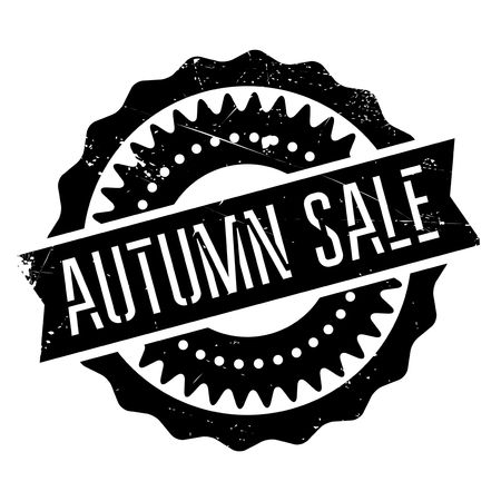 consuming: Autumn sale stamp. Grunge design with dust scratches. Effects can be easily removed for a clean, crisp look. Color is easily changed.