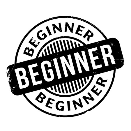 newbie: Beginner rubber stamp. Grunge design with dust scratches. Effects can be easily removed for a clean, crisp look. Color is easily changed.