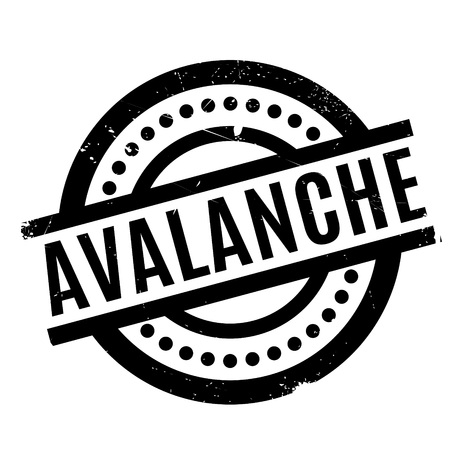 torrent: Avalanche rubber stamp. Grunge design with dust scratches. Effects can be easily removed for a clean, crisp look. Color is easily changed. Illustration