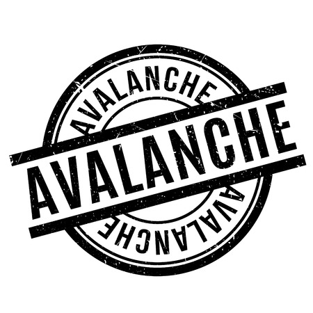 Avalanche rubber stamp. Grunge design with dust scratches. Effects can be easily removed for a clean, crisp look. Color is easily changed. Illustration