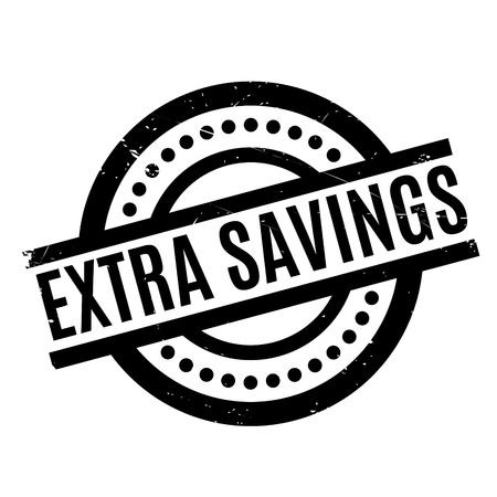 Extra Savings rubber stamp. Grunge design with dust scratches. Effects can be easily removed for a clean, crisp look. Color is easily changed. Illustration