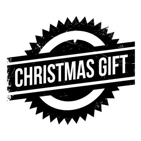 christmastide: Christmas gift stamp. Grunge design with dust scratches. Effects can be easily removed for a clean, crisp look. Color is easily changed. Illustration