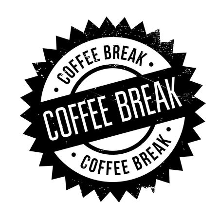 decaf: Coffee break stamp. Grunge design with dust scratches. Effects can be easily removed for a clean, crisp look. Color is easily changed.