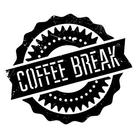 Coffee break stamp. Grunge design with dust scratches. Effects can be easily removed for a clean, crisp look. Color is easily changed.