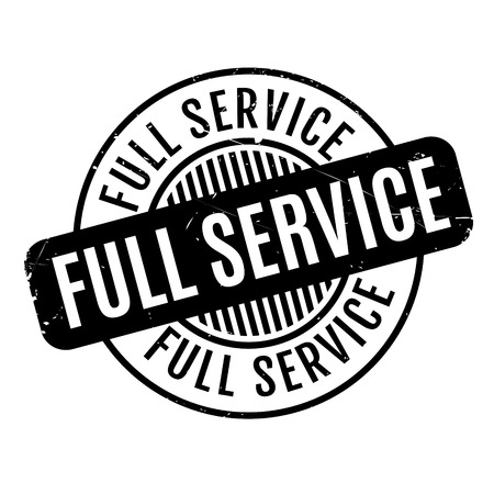 ministration: Full Service rubber stamp. Grunge design with dust scratches. Effects can be easily removed for a clean, crisp look. Color is easily changed.
