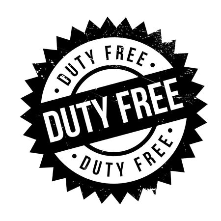 duty free: Duty free stamp. Grunge design with dust scratches. Effects can be easily removed for a clean, crisp look. Color is easily changed. Illustration