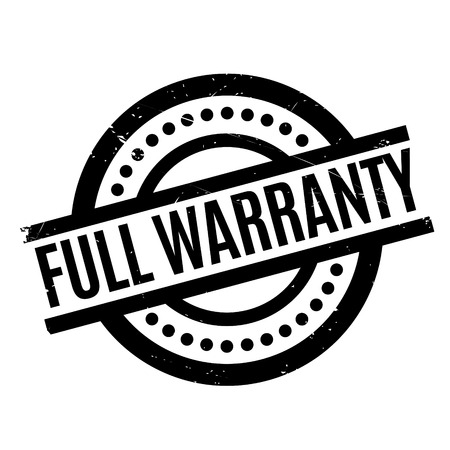 Full Warranty rubber stamp. Grunge design with dust scratches. Effects can be easily removed for a clean, crisp look. Color is easily changed.