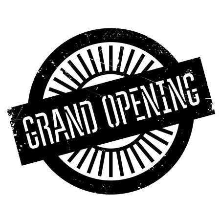 slot in: Grand opening stamp. Grunge design with dust scratches. Effects can be easily removed for a clean, crisp look. Color is easily changed.