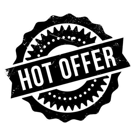 Hot offer stamp. Grunge design with dust scratches. Effects can be easily removed for a clean, crisp look. Color is easily changed. Stock Vector - 68275515