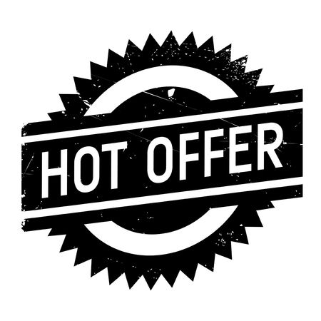 racy: Hot offer stamp. Grunge design with dust scratches. Effects can be easily removed for a clean, crisp look. Color is easily changed. Illustration