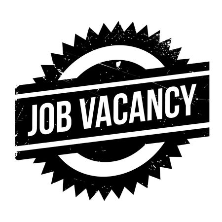 Job vacancy stamp. Grunge design with dust scratches. Effects can be easily removed for a clean, crisp look. Color is easily changed. Illustration