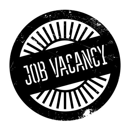 job posting: Job vacancy stamp. Grunge design with dust scratches. Effects can be easily removed for a clean, crisp look. Color is easily changed. Illustration