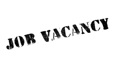 undertaking: Job vacancy stamp. Grunge design with dust scratches. Effects can be easily removed for a clean, crisp look. Color is easily changed. Illustration