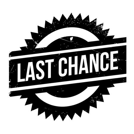 concluding: Last chance stamp. Grunge design with dust scratches. Effects can be easily removed for a clean, crisp look. Color is easily changed.