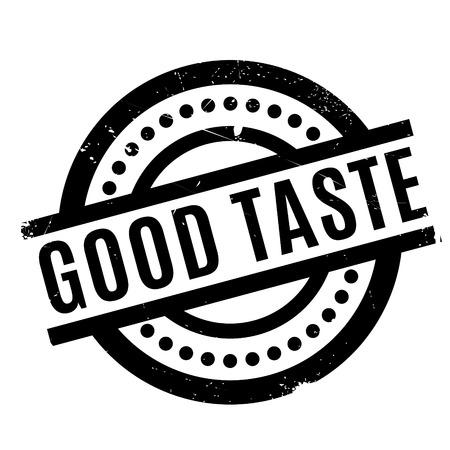 Good Taste rubber stamp Illustration