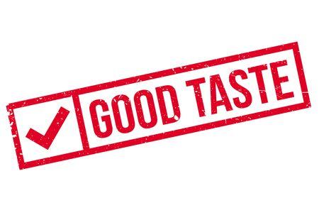 palate: Good Taste rubber stamp Illustration