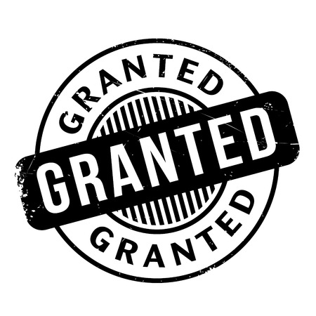 granted: Granted rubber stamp Illustration