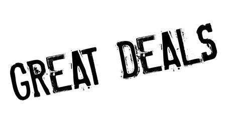 deals: Great Deals rubber stamp Illustration