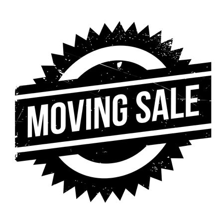 dumping: Moving sale stamp. Grunge design with dust scratches. Effects can be easily removed for a clean, crisp look. Color is easily changed.