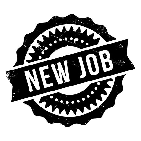 deed: New job stamp. Grunge design with dust scratches. Effects can be easily removed for a clean, crisp look. Color is easily changed.