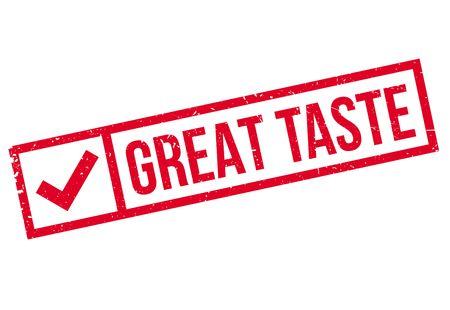 aftertaste: Great Taste rubber stamp Illustration