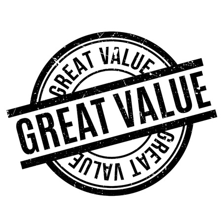 Great Value rubber stamp Illustration
