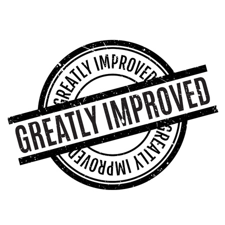 greatly: Greatly Improved rubber stamp Illustration