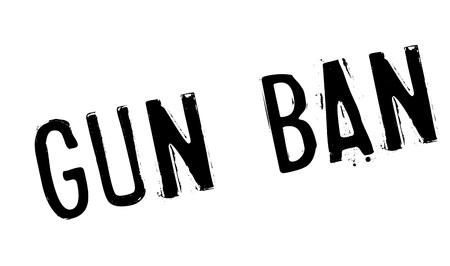 lethal: Gun Ban rubber stamp Illustration