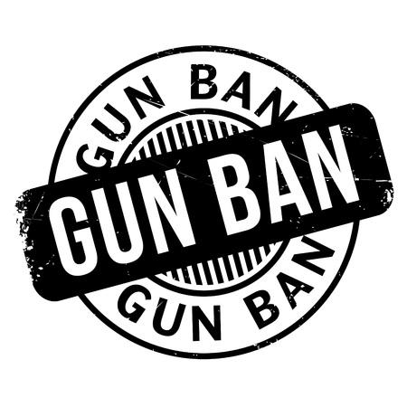 Gun Ban rubber stamp Illustration
