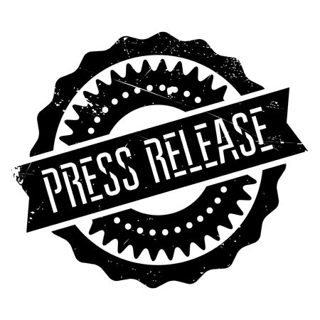 hassle: Press release stamp. Grunge design with dust scratches. Effects can be easily removed for a clean, crisp look. Color is easily changed. Illustration