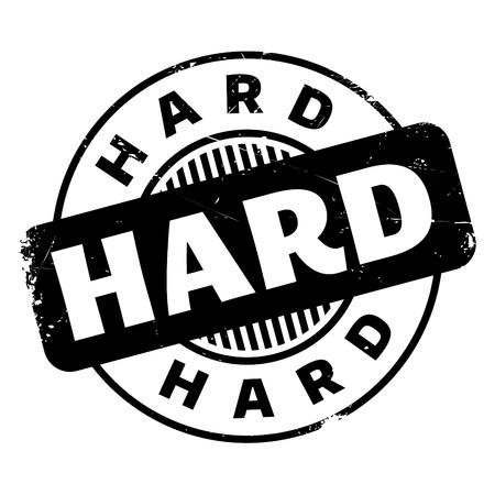 Hard rubber stamp