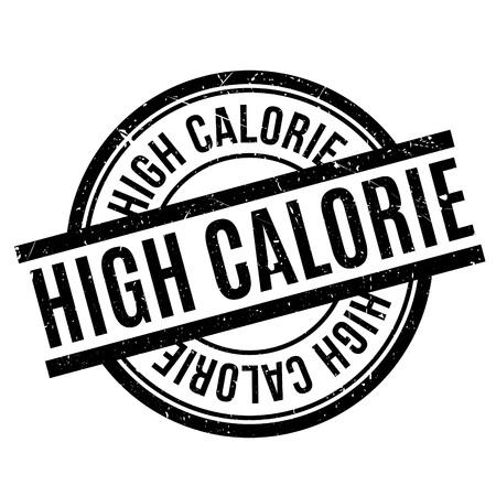 lowfat: High Calorie rubber stamp Illustration