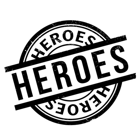 Heroes rubber stamp Illustration