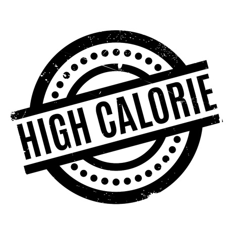 lowfat: High Calorie rubber stamp Illustration